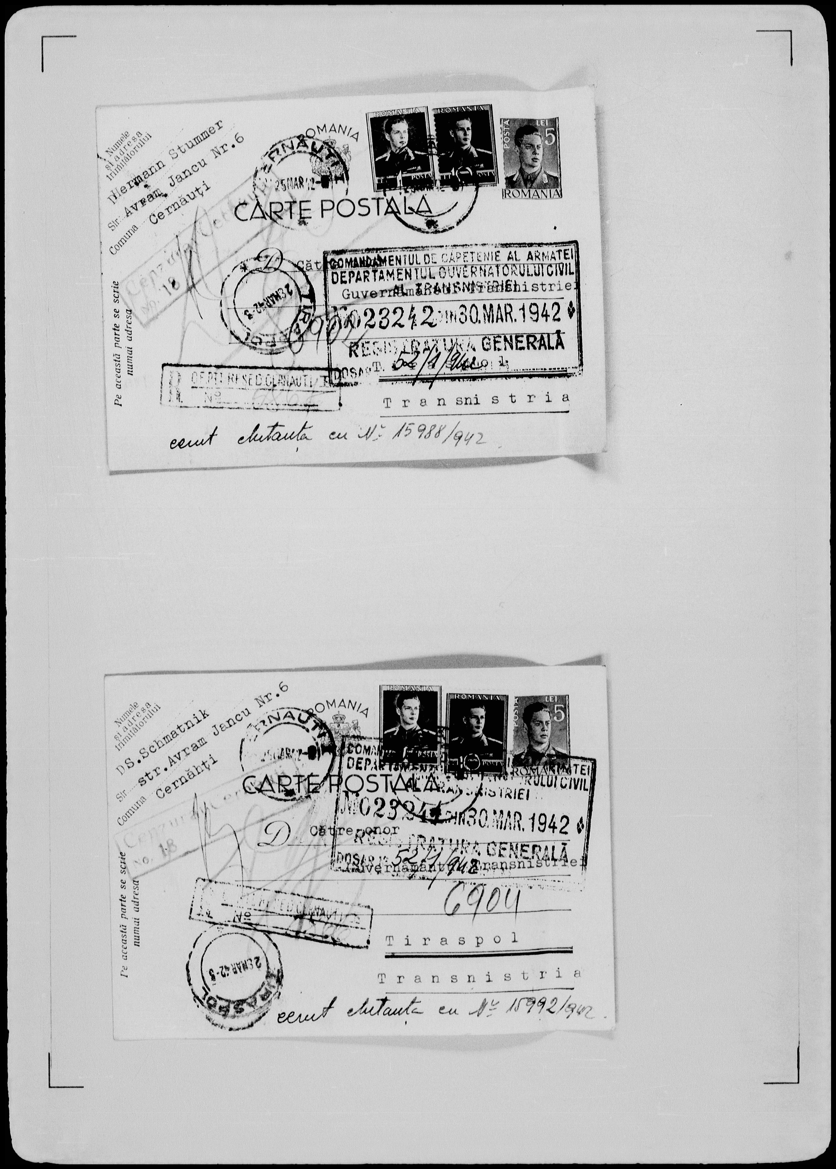 DS-Schmatnik-postcard-USHM-30-March-1942