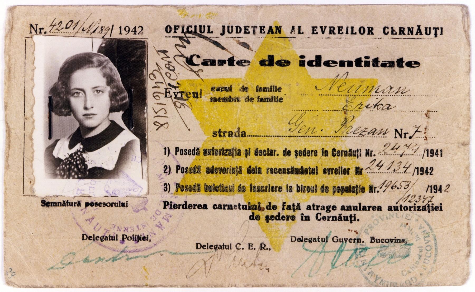 1942 Cernăuţi Declaratie registration card